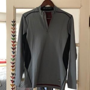 Nike Grey/Black Hyperwarm Dri Fit Max 1/4 Zip M